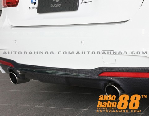 F30 carbon 3D style rear diffuser for M-T bumper-02