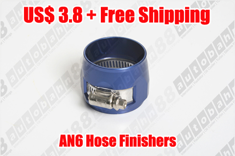 AN -6 (AN6) 15mm Blue Fuel Hose Clamp Finishers Fittings Adaptor – Autobahn88.com FT009-A06