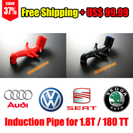 Silicone Air Intake Induction Hose Pipe Audi TT VW Golf MK4 Seat Leon 1.8T Turbo - Free Shipping - Autobahn88.com ASHK62
