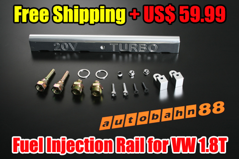 Free Shipping – Fuel Injection Rail for VW 20V 1.8T – Autobahn88.com CAPL05