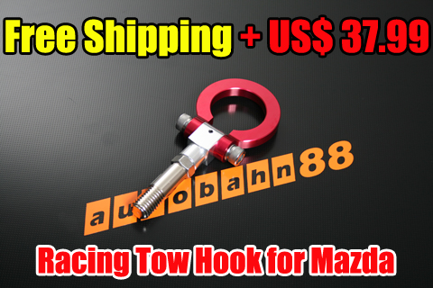 Free Shipping – Racing Tow Hook for Mazda – Autobahn88.com CAPP60A