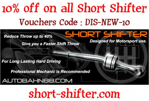 Special Offer - 10% off on all Short Shifter