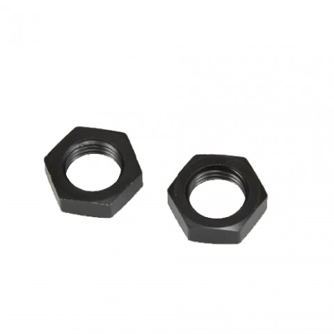 AN -6 (AN6 AN 06) NUT for Bulkhead Fittings AN Fittings NUTS Black - Autobahn88 - (FTBK043-A06)-01