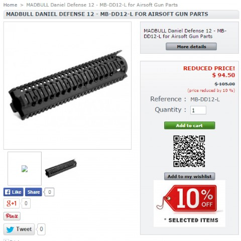 MADBULL Daniel Defense 12 - MB-DD12-L for Airsoft Gun Parts-01