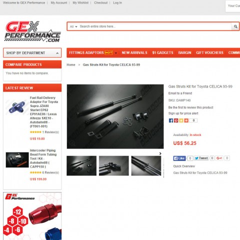 New Arrival - Hood Damper for Toyota CELICA 1993-1999