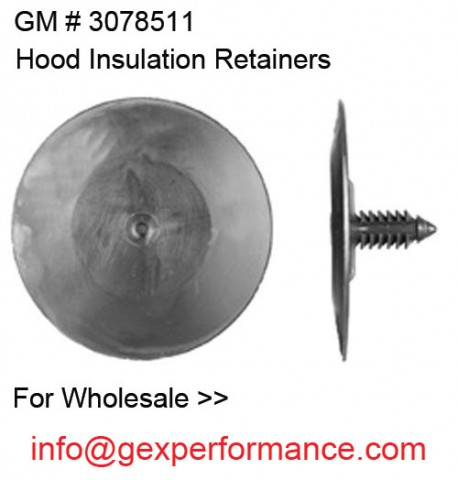 Black Nylon GM: 3078511 3977775 Hood Insulation Retainer