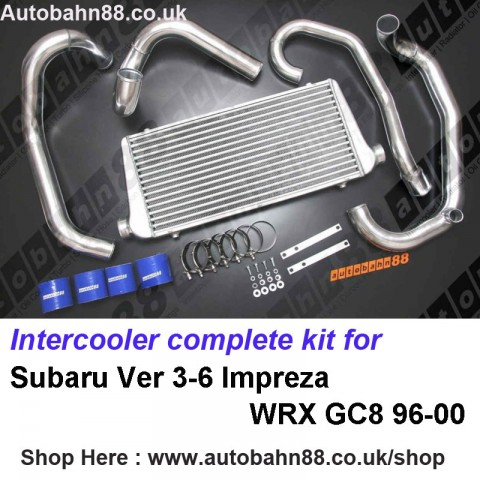 Intercooler complete kit for Subaru Ver 3-6 Impreza WRX GC8 96-00