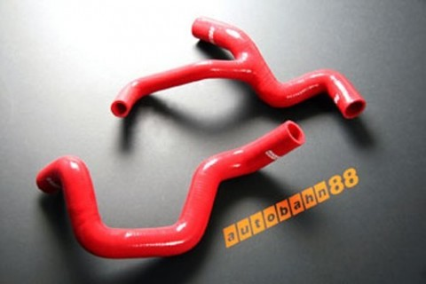 Silicone Radiator Hose Kit for Ford Focus ST170 year 00-now Red - ASHK108-R