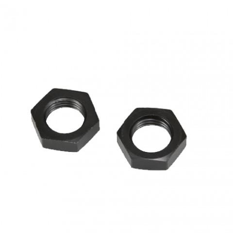 AN -6 (AN6 AN 06) NUT for Bulkhead Fittings AN Fittings NUTS Black - Autobahn88 - (FTBK043-A06)-01