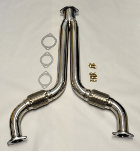 Y Pipe Decat Catless Straight Downpipe Exhaust FITS Nissan 350z Infiniti G35
