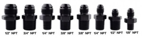 "Aluminum Male AN8 TO 1/4"" AN8 TO 3/8"" AN6 TO 3/8""AN4 TO 1/4"" NPT Straight Adapter Oil Cooler Fitting"